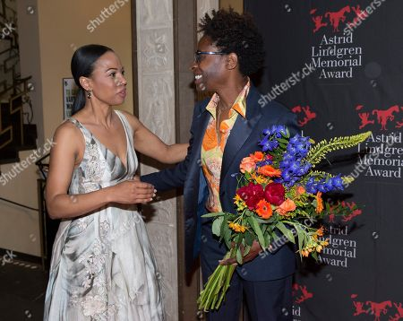 Alice Bah Kuhnke, Swedish minister of culture, Jacqueline Woodson, laureate of the 2018 Astrid Lindgren Memorial Award (ALMA)