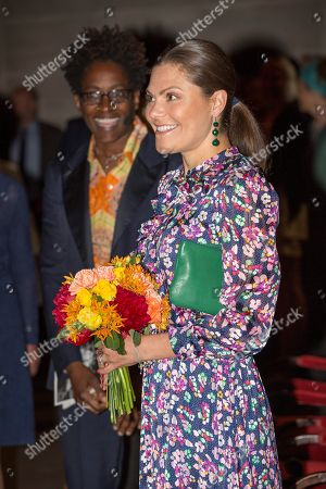 Stock Picture of Jacqueline Woodson, laureate of the 2018 Astrid Lindgren Memorial Award (ALMA), Crown Princess Victoria