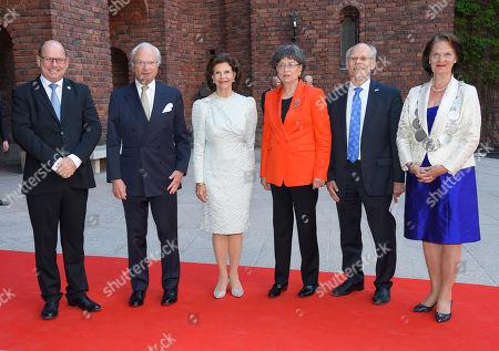 Urban Ahlin, King Carl Gustaf, Queen Silvia, Susanne Eberstein, Stefan Ingves, Eva-Louise Erlandsson Slorach