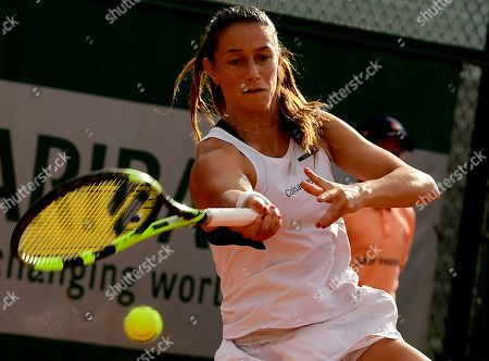 Stock Picture of Mariana Duque-Marino of Colombia plays Camila Giorgi of Italy during their women?s second round match during the French Open tennis tournament at Roland Garros in Paris, France, 30 May 2018.