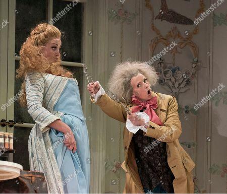 Stock Picture of Eleanor Dennis as Fiordiligi, Sarah Tynan as Despina