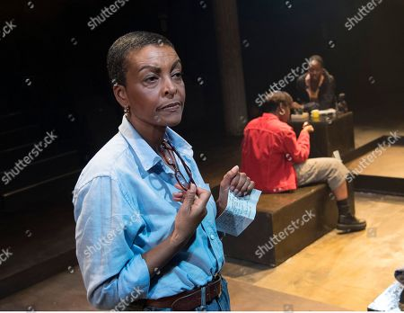 Stock Image of Adjoa Andoh as Mai, Serephina Beh as Del, Nicholle Cherrie as Viv