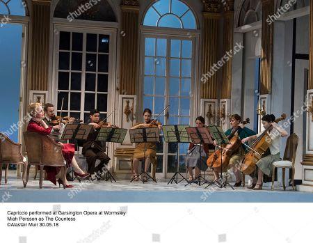 Capriccio performed at Garsington Opera at Wormsley  Miah Persson as The Countess