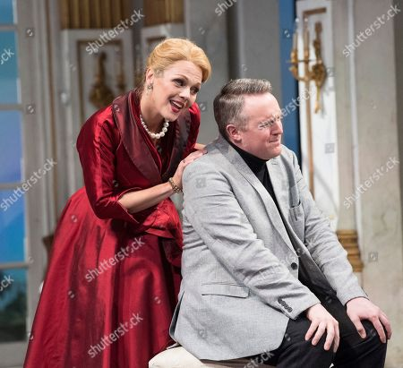 Stock Image of Miah Persson as The Countess, Gavan Ring as A Poet,