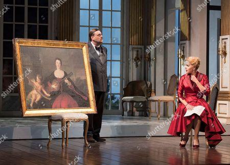 Stock Photo of Benjamin Bevan as The Major Domo, Miah Persson as The Countess,