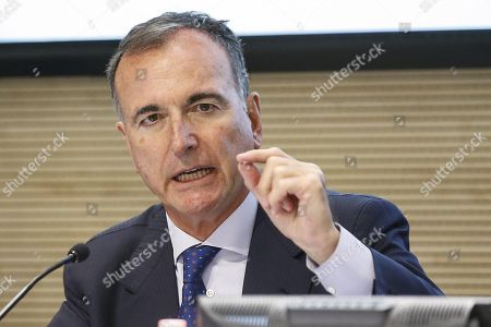 Franco Frattini, Special Representative of the Italian OSCE-Chairperson in Office for the Transdniestrian Settlement Process, during the 'Permanent Conference on Political Issues in the Framework of the Negotiation Process for the Transdniestrian Settlement' at Farnesina palace in Rome, Italy, 30 May 2018.