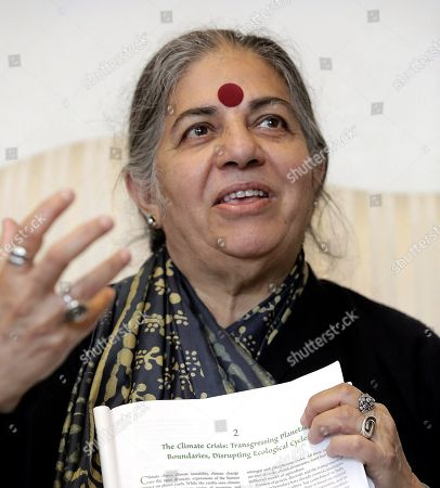Editorial picture of Indian environmental activist Vandana Shiva attends a conference in San Sebastian, Spain - 30 May 2018