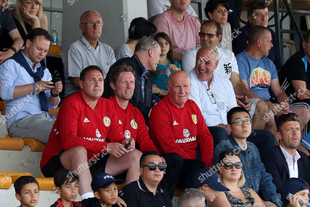 Malky Mackay, Scot Gemmill and Peter Houston watch the preceding match involving Togo U21's v South Korea U21's during Scotland Under-21 vs France Under-20, Tournoi Maurice Revello Football at Stade d'Honneur Marcel Roustan on 30th May 2018