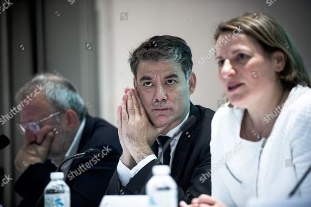 Olivier Faure (MP for Seine-Et-Marne and First Secretary of the Socialist Party), Valerie Rabault (MP for Tarn-Et-Garonne and President of the New Left Group in the National Assembly)