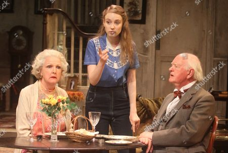 Penelope Keith as Mrs St Maugham, Emma Curtis as Laurel and Oliver Ford Davies as the Judge