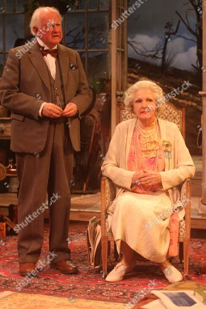 Penelope Keith as Mrs St Maugham and Oliver Ford Davies as the Judge