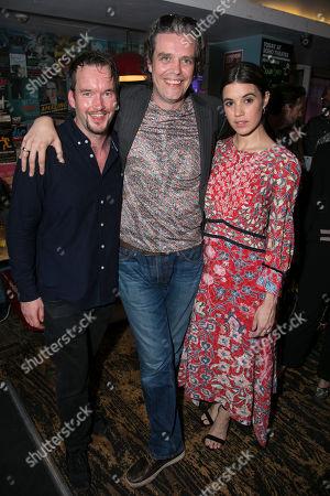 Stock Image of Gareth David-Lloyd (Walt), Steve Marmion (Director) and Gala Gordon (Barb)