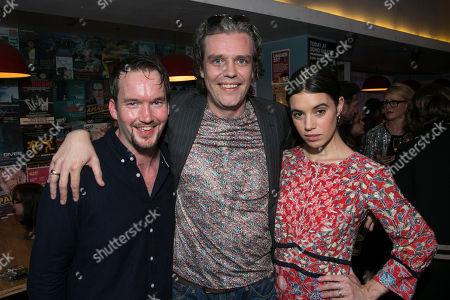 Stock Picture of Gareth David-Lloyd (Walt), Steve Marmion (Director) and Gala Gordon (Barb)