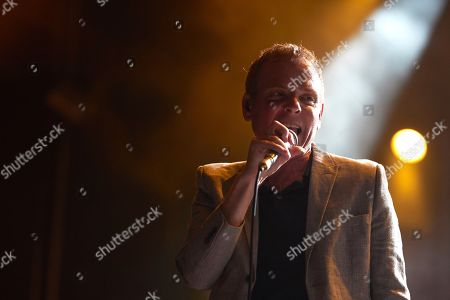 Scottish band 'Belle and Sebastian' singer Stuart Murdoch performs on stage during the Primavera Sound Festival opening day concert played at the Forum facilities in Barcelona, Spain, 30 May 2018. The festival runs from 30 May to 03 June 2018.