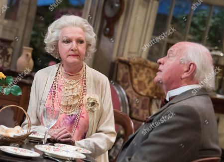 Stock Picture of Penelope Keith as Mrs St Maugham,  Oliver Ford Davies as the Judge