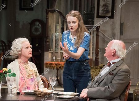 Penelope Keith as Mrs St Maugham, Emma Curtis as Laurel, Oliver Ford Davies as the Judge