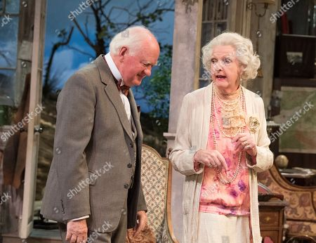 Stock Image of Penelope Keith as Mrs St Maugham,  Oliver Ford Davies as the Judge
