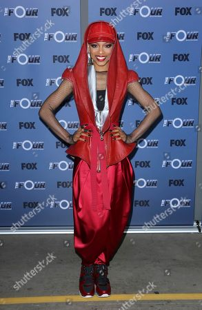 "Sharaya J arrives at the premiere of ""The Four: Battle For Stardom"" at the CBS Radford Studio Center, in Los Angeles"