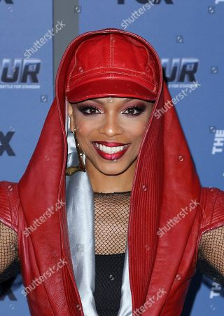 "Sharaya J arrives at the LA Premiere of ""The Four: Battle For Stardom"" at the CBS Radford Studio Center, in Los Angeles"
