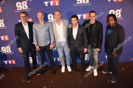 Laurent Blanc, Frank Leboeuf, Alain Boghossian, Bixente Lizarazu, Youri Djorkaeff, Bernard Diomede