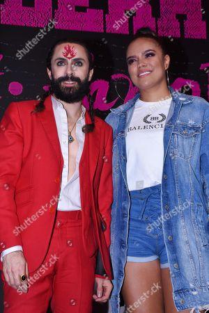 Jay de la Cueva and Karol G