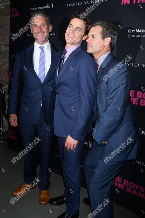 Stock Photo of Simon Halls and husband Matt Bomer with Tuc Watkins