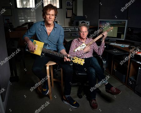 Brothers Kevin Bacon, left, and Michael Bacon pose in New York to promote their self-titled album out Friday. The pair will also launch a three-month concert tour