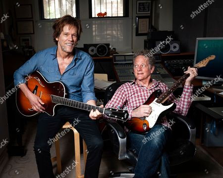 Stock Image of Brothers Kevin Bacon, left, and Michael Bacon pose in New York to promote their self-titled album out Friday. The pair will also launch a three-month concert tour