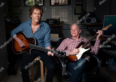 Stock Photo of Brothers Kevin Bacon, left, and Michael Bacon pose in New York to promote their self-titled album out Friday. The pair will also launch a three-month concert tour