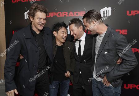 Producer Jason Blum, James Wan, Director Leigh Whannell and Logan Marshall-Green