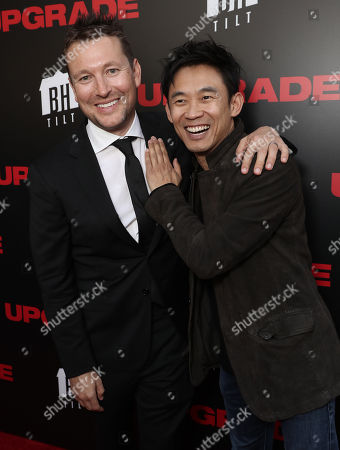 Director Leigh Whannell and James Wan