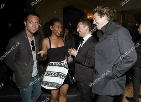 Stock Photo of Logan Marshall-Green, Betty Gabriel, Director Leigh Whannell and Producer Jason Blum
