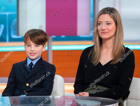 Iain Armitage and Zoe Perry