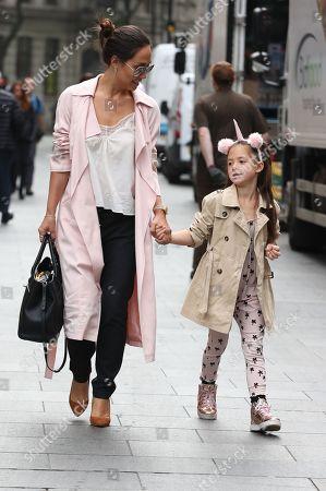 Myleene Klass with daughter Hero Harper Quinn