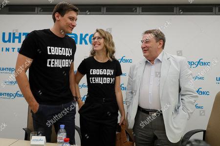Dmitry Gudkov, Ksenia Sobchak and Andrey Nechaev