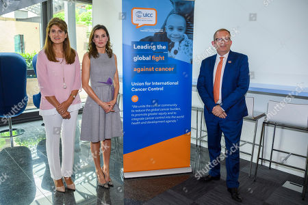 Editorial picture of Spanish Queen Letizia a the UICC, Geneva Geneve Ginevra Genf, Switzerland - 31 May 2018