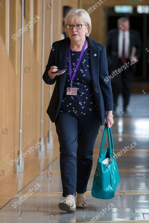 Scottish Parliament First Minister's Questions - Johann Lamont makes her way to the Debating Chamber.