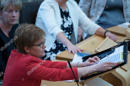 Editorial image of Scottish Parliament First Minister's Questions, The Scottish Parliament, Edinburgh, Scotland, UK - 31st May 2018