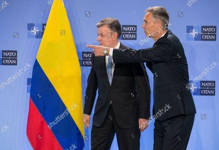 Juan Manuel Santos Calderon and Jens Stoltenberg