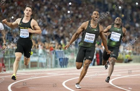Stock Photo of Filippo Tortu, Ronnie Baker and Christian Coleman