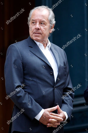 French TV and radio host Christian Morin leaves the Saint-Roch church after the funeral of Pierre Bellemare in Paris, France in Paris, France, . French radio and tv host, producer, writer and journalist Pierre Bellemare died on May 26, at the age of 88