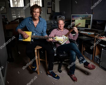 Stock Picture of Kevin Bacon, Michael Bacon. Brothers Kevin Bacon, left, and Michael Bacon pose in New York to promote their self-titled album out Friday. The pair will also launch a three-month concert tour