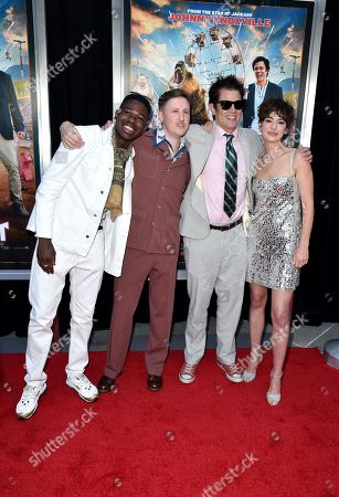 Stock Image of Eric Manaka, Johnny Pemberton, Johnny Knoxville and Brigette Lundy-Paine