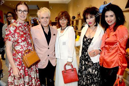 Sara Ferrero, Nick Rhodes, Stephanie Beacham, Cheryl Howard and Nefer Suvio