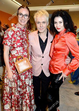 Stock Image of Sara Ferrero, Nick Rhodes and Nefer Suvio