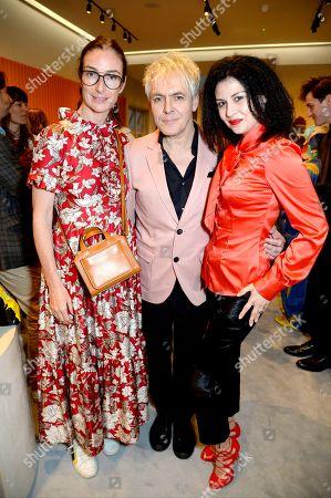 Sara Ferrero, Nick Rhodes and Nefer Suvio