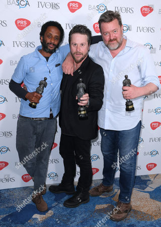 Stock Picture of Pete Turner, Guy Garvey and Mark Potter of Elbow