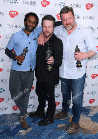 Stock Image of Pete Turner, Guy Garvey and Mark Potter of Elbow