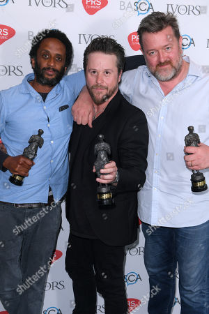 Stock Photo of Pete Turner, Guy Garvey and Mark Potter of Elbow