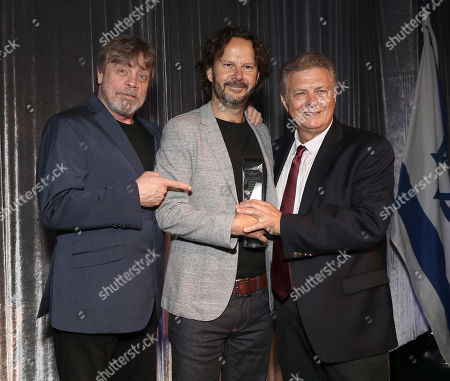 Mark Hamill and 2018 IFF Achievement in Film Award Winner Producer Ram Bergman and Executive Director/Founder of IFF Meir Fenigstein